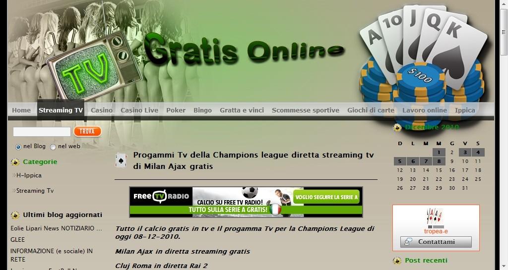 Realizzazione template personalizzato di tv gratis online for Designer di garage online gratuito
